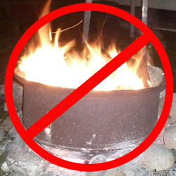 Fire Ban at Lake Tyee
